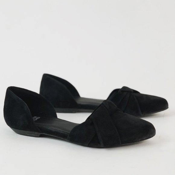 Eileen Fisher Suede D'Orsay Flats